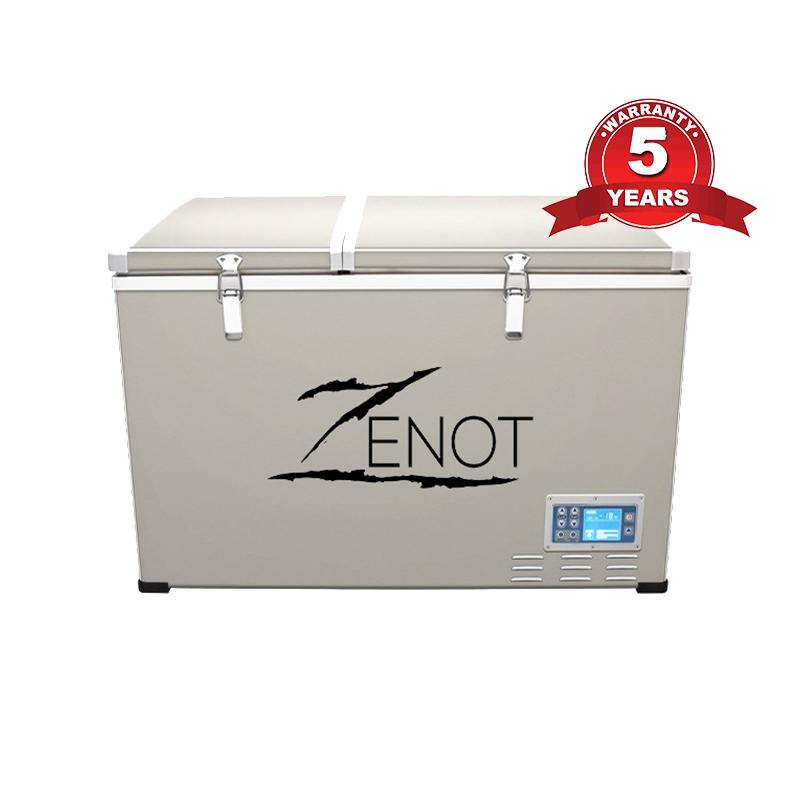 12 Volt Fridge >> Zenot 125l Dual Zone Camping Fridge Freezer All 12 Volt